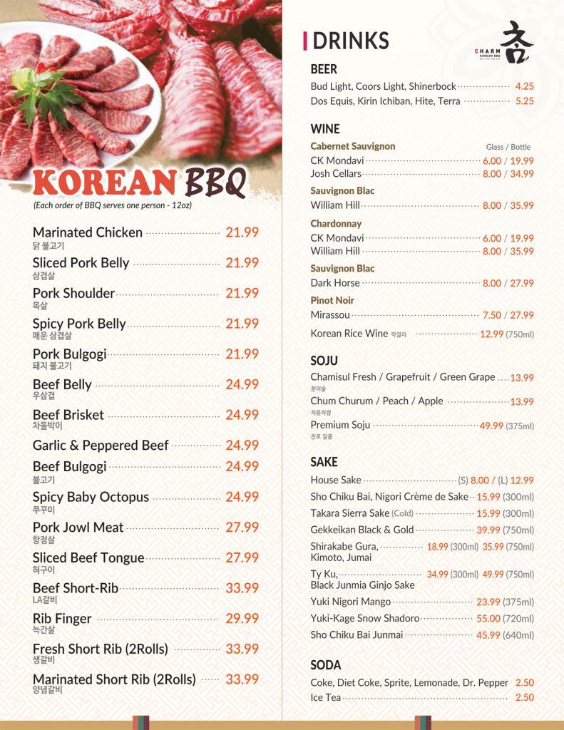 Korean BBQ Drinks